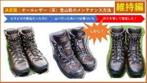 決定版|オールレザー(革)登山靴のメンテナンス方法|維持編