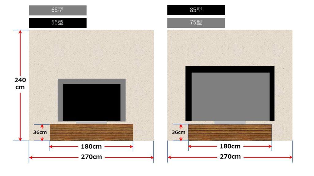 1.5畳幅で台設置1