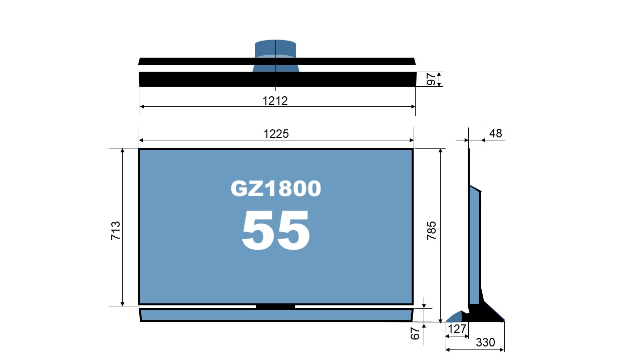 size TH-55GZ1800