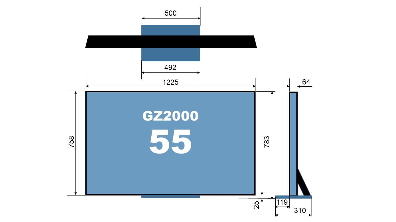 size TH-55GZ2000