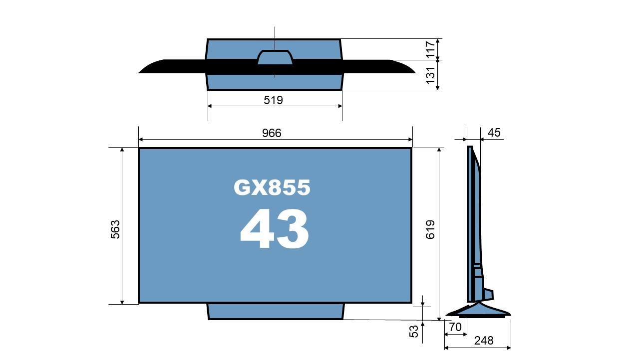 size TH-43GX855