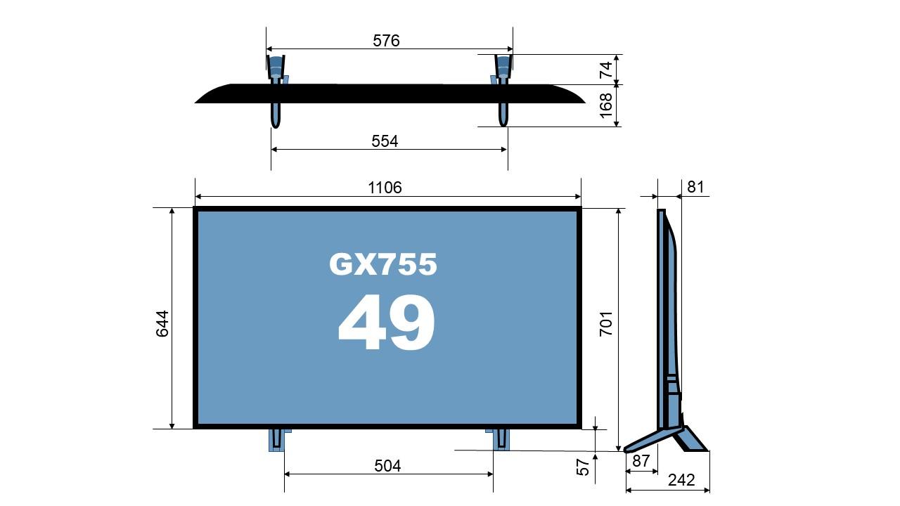 size TH-49GX755