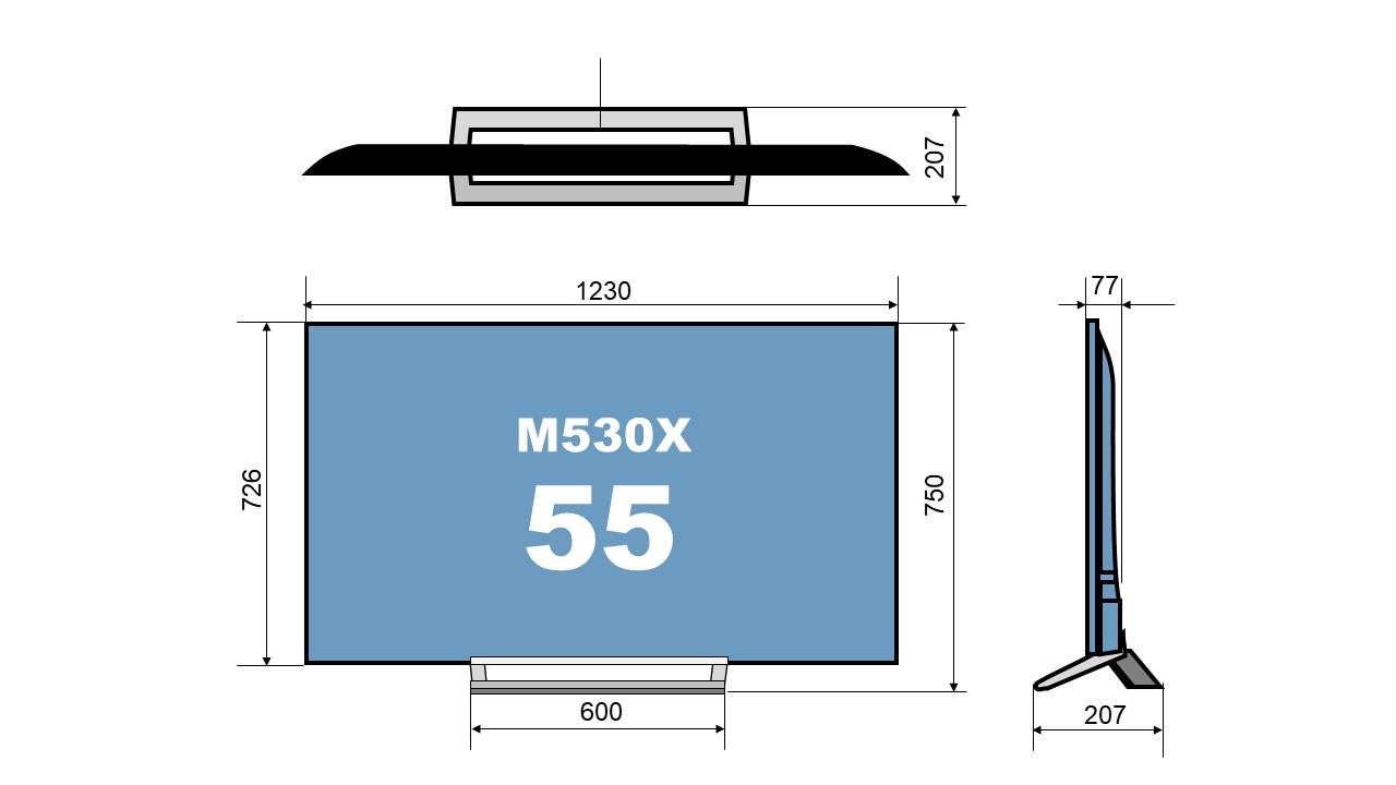 size 55M530X