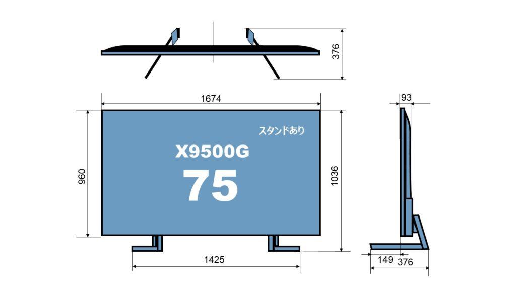 size KJ-75X9500G
