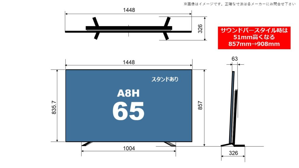 KJ-65A8H size